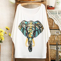 Buy Elephant Batwing T-shirt For Women on Shoply.