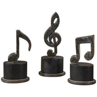 Uttermost Set of 3 Music Notes Decorative Accents - #T7678 | LampsPlus.com