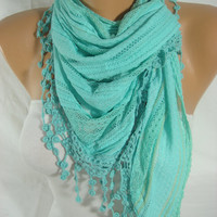 Mint-Triangle Women Scarf-ESCHERPE