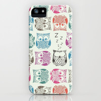 light sherbet owls iPhone & iPod Case by Sharon Turner