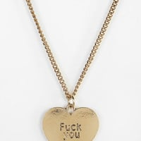 Urban Outfitters - Tough Love Heart Necklace