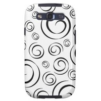 Tuxedo Black and White Swirl Pattern PT81 Samsung Galaxy SIII Case from Zazzle.com
