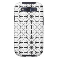 Tuxedo Geometric Print in Black and White Pt50 Galaxy SIII Cases from Zazzle.com