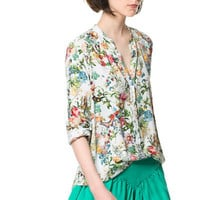 PRINTED SHIRT - Tops - Woman - ZARA United States