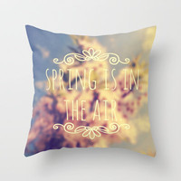 Spring Is In The Air Throw Pillow by Josrick