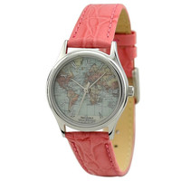 Ladies Vintage Map Watch (World ) with roman