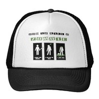 How To Kill A Zombie Mesh Hats from Zazzle.com