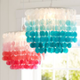 Ombre Capiz Chandelier