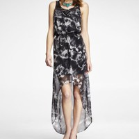 TIE DYE HI-LO HEM MAXI DRESS