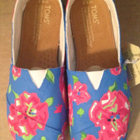 Lilly Pulitzer Painted Shoes (Toms available) Custom