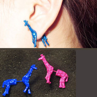 3D Neon Giraffe Ear Stud (Single) | LilyFair Jewelry