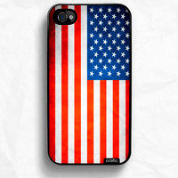 iPhone 4 case iPhone 4s case - Vintage American Flag iPhone Case