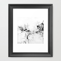 Inhale Framed Art Print by Teagan White