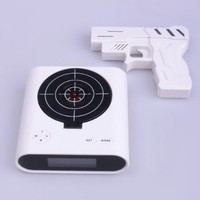 Laser Target Gun Alarm Clock with LCD Screen:Amazon:Home &amp; Kitchen