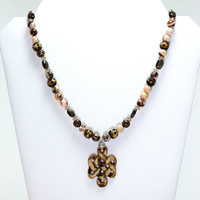 Cappuchino Cross Necklace