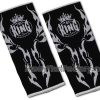 TOP KING Ankle Support - Tattoo - BLACK [TKANG-02-BLACK] - Low prices on thai boxing Ankle Support