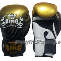 TOP KING Muay Thai Gloves SUPER STAR (AIR) - GOLD [TKBGSS-01-GD-A] - Low prices on thai boxing Gloves