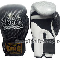 TOP KING Muay Thai Gloves SUPER STAR (AIR) -SILVER [TKBGSS-01-SV-A] - Low prices on thai boxing Gloves