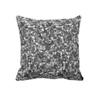 Army print style mosaic effect cushion throw pillow from Zazzle.com