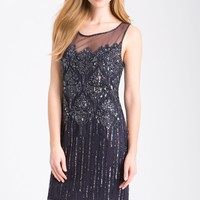 Pisarro Nights Beaded Illusion Cocktail Dress | Nordstrom