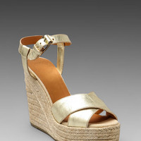 Marc by Marc Jacobs Metallic Espadrille Wedge Sandal in Gold from REVOLVEclothing.com