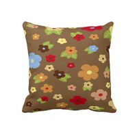 "Colorful Floral Decorative Throw Pillow 20"" x 20"" from Zazzle.com"