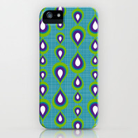 peacock mod drops iPhone & iPod Case by Sharon Turner