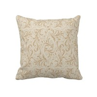 Luxury Golden Swirl Decorative Throw Pillow from Zazzle.com
