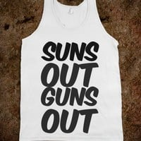 suns out guns out - Julianne's Apparel - Skreened T-shirts, Organic Shirts, Hoodies, Kids Tees, Baby One-Pieces and Tote Bags