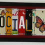Social Butterfly License Plate Sign by YouAreLovedSigns on Etsy