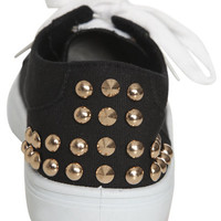 Low Top Studded Sneaker | Shop Clearance at Wet Seal