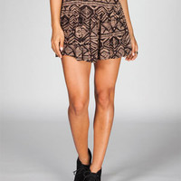 FULL TILT Ethnic Print Yoke Skater Skirt