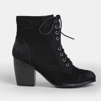 Mary-Kate Lace-Up Boots - $45.00 : ThreadSence, Women's Indie & Bohemian Clothing, Dresses, & Accessories