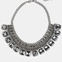 Onyx Visions Bib Necklace - $24.00 : ThreadSence, Women's Indie & Bohemian Clothing, Dresses, & Accessories