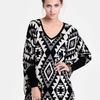 Monument Aztec Print Sweater - $48.00 : ThreadSence, Women's Indie & Bohemian Clothing, Dresses, & Accessories