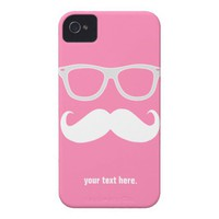 Funny geeky glasses with mustache iPhone 4 cover from Zazzle.com