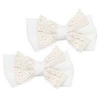 2 On Crochet Bow Clips | Shop Accessories at Wet Seal