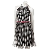 Suite 7 Polka-Dot Mesh Dress