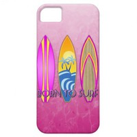 Pink Born To Surf iPhone 5 Cover from Zazzle.com