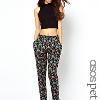 ASOS PETITE Exclusive Peg Trousers In Floral Print