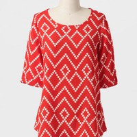 Moving On Geometric Print Blouse at ShopRuche.com