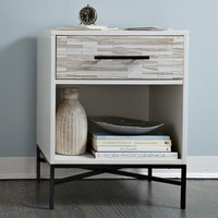 Wood Tiled Nightstand | west elm