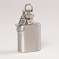 Stainless Steel Mini Keychain Flask | Bar| Kitchen &amp; Dining | World Market