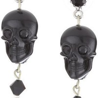 TARINA TARANTINO &quot;Iconic Classics&quot; Cobra Lily Lucite Skull Drop Earrings