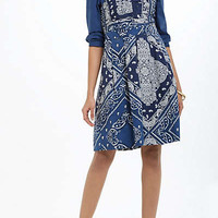 Anthropologie - Flared Bandana Shirtdress