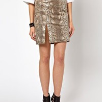 Lavish Alice PU Pencil Skirt In Snake Print at asos.com