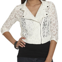 Crochet Lace Moto Jacket | Shop Jackets at Wet Seal