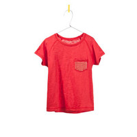 SLUB KNIT T-SHIRT WITH STARS POCKET - T-shirts - Girl - Kids - ZARA United States