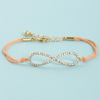 All I Want is Forever Peach Infinity Bracelet