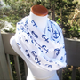 Nautical Anchor infinite scarf- Soft Jersey knit-ready to ship